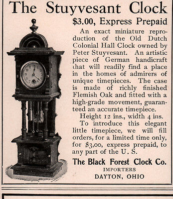 Ad Lot Of Of 2 Early 1900 's Ads Stuyvesant Clock Black Forest Bealmear Cuckoo