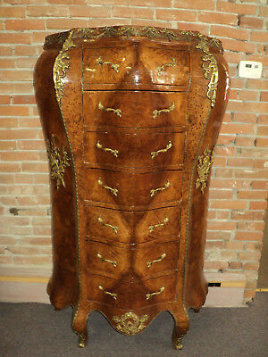 French Louis XV Style Bombe Semainier Lingerie Chest