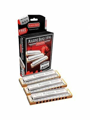 Marine Band Pro Pack C-G-A, Harmonica in all keys, box included, Free Shipping i