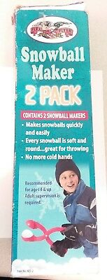 Flexible Flyer Snowball Maker 2-pack RED 3 inch snowball maker lots of fun