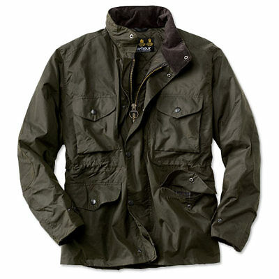 NWT BARBOUR Military Field 'Sapper' Waxed Cotton Quilted Jacket Olive sz XXL