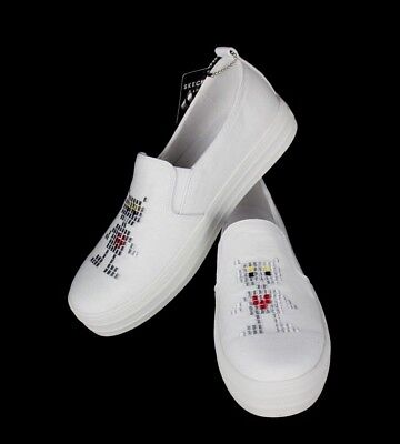 Skechers street womens double up robot love air cooled memory form white
