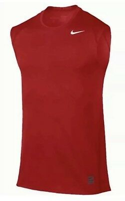 82e1c675a341c0 MEN S NIKE DRI-FIT PRO COOL SLEEVELESS TRAINING SHIRT Red 703102 2XL FITTED