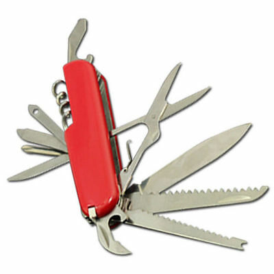 Military Red Folding Small Army Knife Survival Multi Tool
