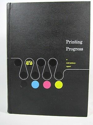 Printing Progress A Mid Century Report 1959 Book Graphic Design Printers Fonts