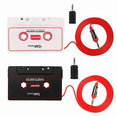 Car Audio Cassette Adapter MP3 Tape for iPhone iPod iPad MD CD Radio Stereo AUX