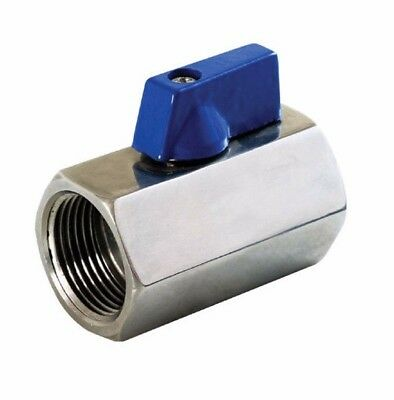 "1/4"" Inch Stainless Steel 316  Mini Ball Valve Female to Female NPT Guardian"