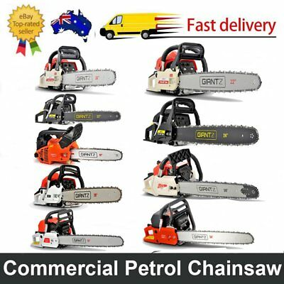 25/58/62/66/88/92CC Commercial Petrol Chainsaw Pruning TreeChain Saw E-Start New