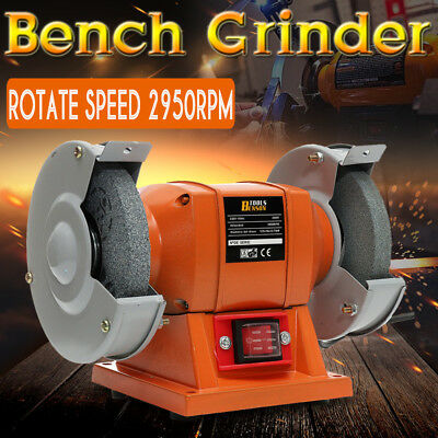 250W Bench Grinder 5'' 125mm Dual Grinding Stone Polisher Machine Tool Workshop