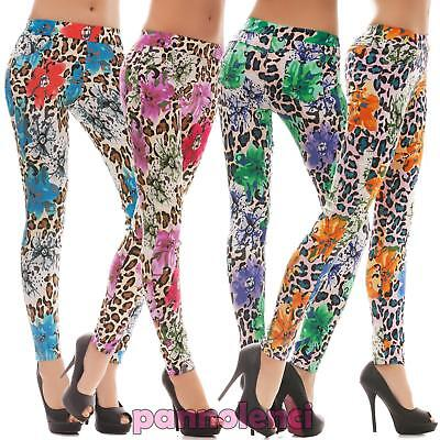 Leggings donna pantacollant fuseaux maculato tapestry floreal nuovo sexy Q-8171