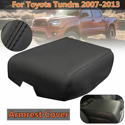 Leather Center Console Lid Arm Rest Cover Cap Black For Toyota Tundra 2007-2013
