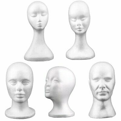 Male Female Styrofoam Mannequin Foam Head Model Wig Glasses Hat Display Stand HU