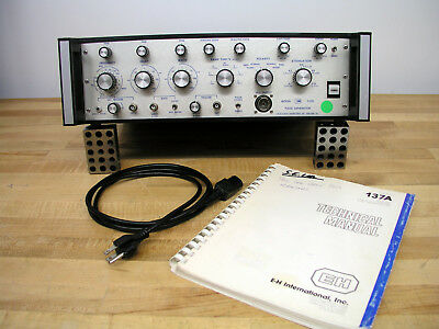 E-H Research 137A Pulse Generator 10Hz - 125MHz 2nS Risetime w/ Manual, Working