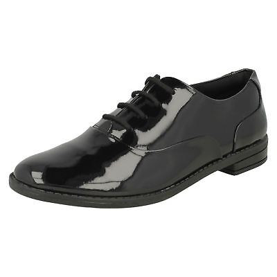 Girls Clarks Drew Star Youth Lace Up Junior College Formal School Shoes Size
