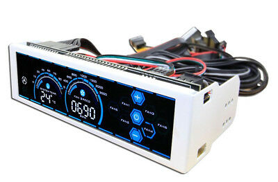"LC Power LC-CFC-3 LC-C 6channels 5.25"" LCD White fan speed controller 6 x 24W -"