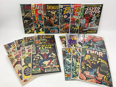 Lot of 19 Marvel Silver Bronze Comic Book New Mutants Avenger Thor Silver Surfer