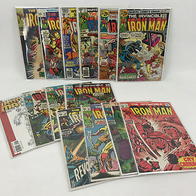 Lot of 14 Invincible Iron Man Silver Bronze Age Comic Book 5 9 13 26 27 28 29 30