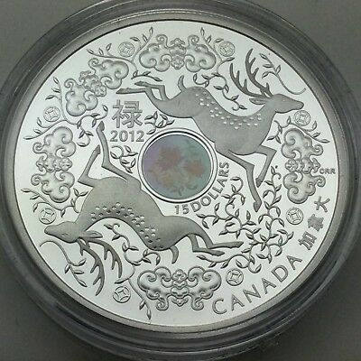 2012 Proof 15 Fifteen Dollar Silver Maple Of Good Fortune Uncirculated Coin F810