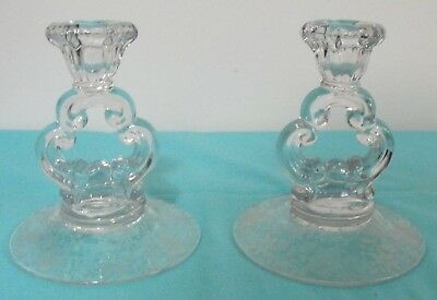 Pair of Cambridge Wildflower Candleholders