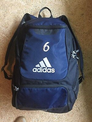 Adidas Climaproof Stadium Team Gear Up Backpack Soccer Sports Navy Black w   Logo 6421e02f67972