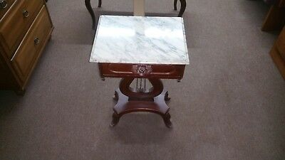 Marble Top End Table with Drawer