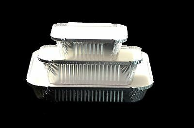 20 xLarge Aluminium Catering Foil No9 Food Storage Take Away Container with Lids