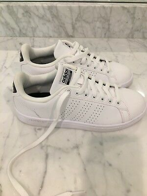 promo code d0283 db4b8 Women's Adidas Stan Smith white perforated stipe with cloudfoam, size 8