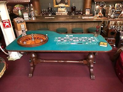 "1920's Ball & Claw Foot Roulette Gambling Table B.C. Wills Wheel  ""Watch Video"""