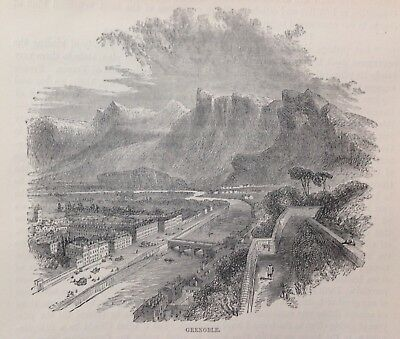 Grenoble, 1898,  Antique Print/Illustration