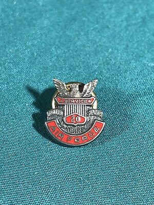 Vintage U.S. Airforce Screw Back Pin Service 20 Years His Lordship Ster. N.Y.C.