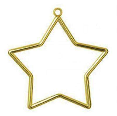 Vervaco Star Shaped Frame, Plastic, Gold, 9 x 7 cm