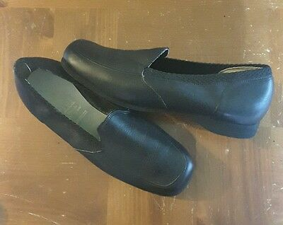 Vintage Hush Puppies Shoes Loafers 10.5R Black Slip On Casual Wolverine