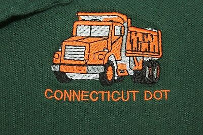 CT DOT Dept. of Transportation embroidered polo 2XL shirt PRISON MADE!!