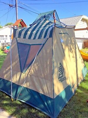 Vintage Sears Hillary Cottage Canvas Cabin Tent 8x10 Excellent