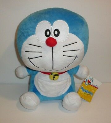"Doraemon 12"" Plush Stuffed Animal Gadget Cat from the Future w/ Pocket Anime NEW"