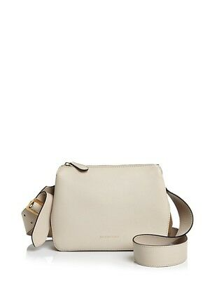 8332309999 Burberry Helmsley Crossbody Bag Small Leather & House Check Limestone NEW  Auth