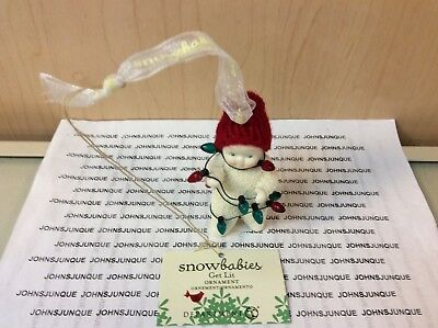 Get Lit Ornament Snowbabies Figurine New In Box  Ready To Ship!