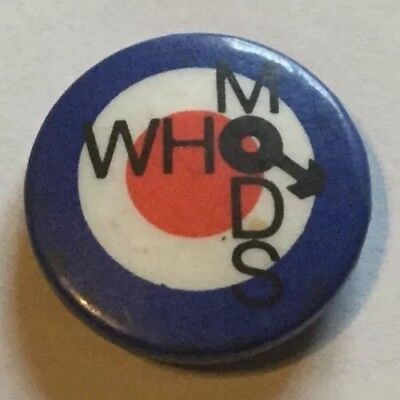 Vintage The Who Badge Mods Pete Townsend Roger Daltrey