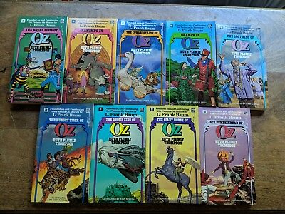 Lot of 9 titles - Ruth Plumly Thompson Del Rey Oz paperback books, brand new