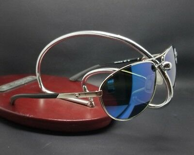 89bb156e6dc6 Costa Del Mar KC KC-21 Silver Frame Blue Mirror lens 580G Glass Polarized  New