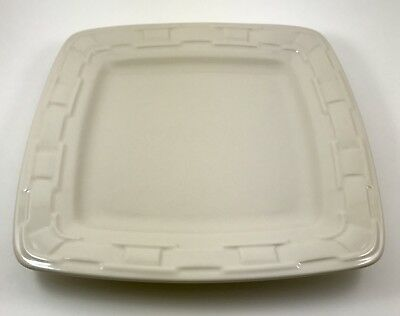 Longaberger Pottery Soft Square Dinner Plate in Ivory