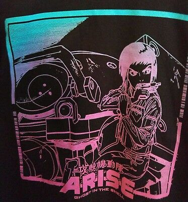 Size Small Official Ghost in the Shell Arise Long Sleeve T Shirt Black Anime