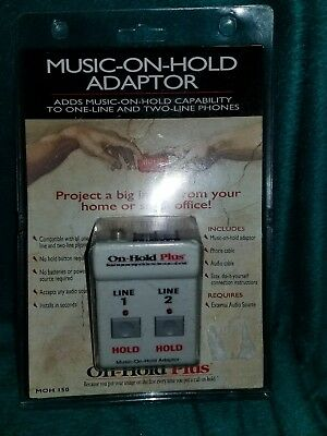 On-Hold Plus, Music on-hold adapter, Single or two-line phones, NEW Unopened!!!