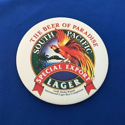 South Pacific Special Export Lager The Beer of Paradise Pinback Button