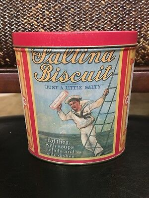Vintage Old Saltina Biscuit Tin Inter Seal 1992 Collectible Container Empty Box