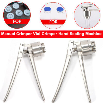 20mm Stainless Steel Manual Crimper Flip Off Caps Hand Sealing / Capping Machine