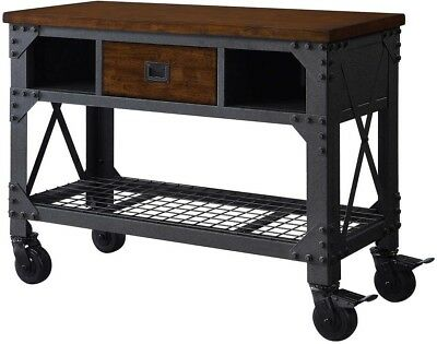 New Whalen 48' Metal and Wood Rolling Work Bench