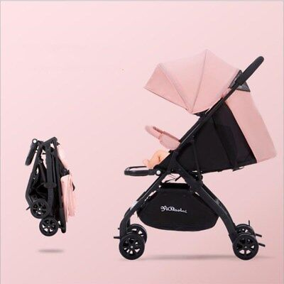 Foldable Baby Stroller Portable Pushchair Airplane Travel Safety Recliners Buggy
