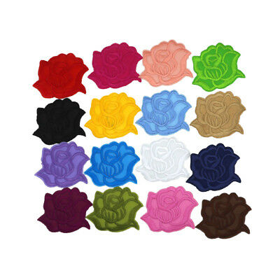 new style Big Rose Flower Patches Embroidery Iron On Sew-On Patch applique