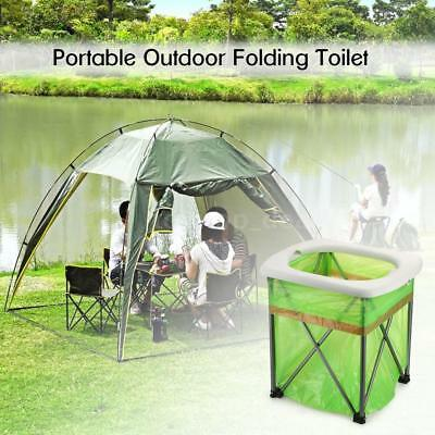 Outdoor Portable Folding Toilet Lightweight Comfortable Toilet Seat Chair N6C3